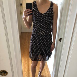Marc by Marc Jacobs silk abstract pattern dress